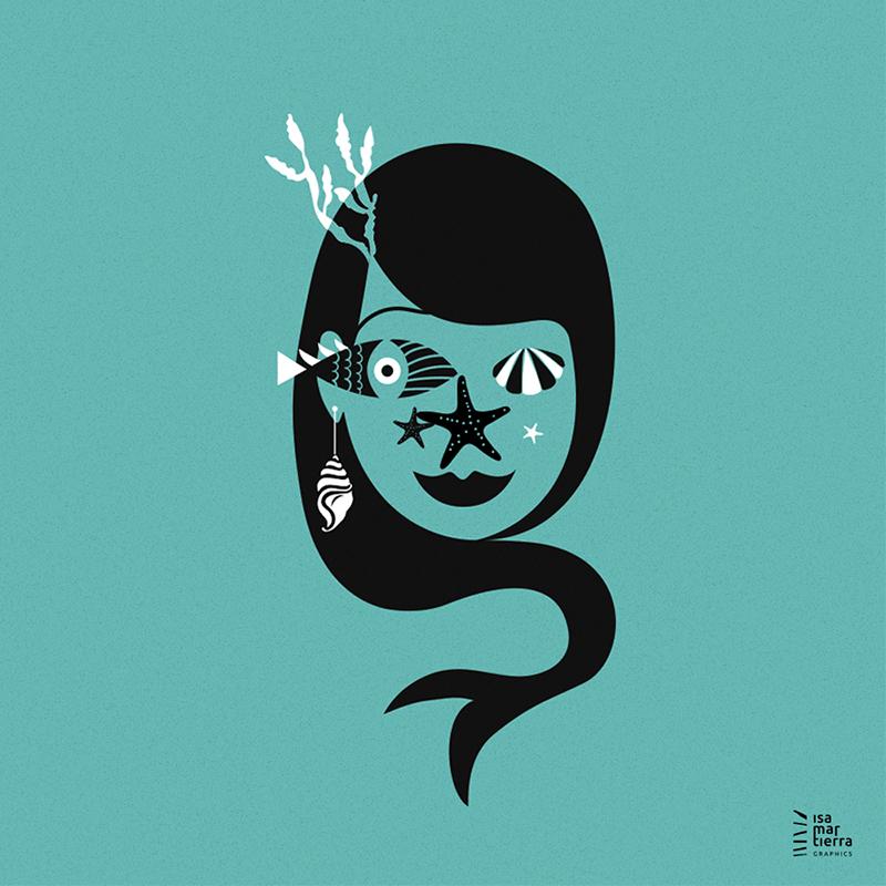 ilustración sirena